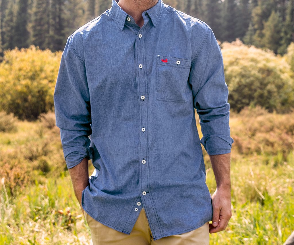 Southern marsh collection west end performance woven for Southern marsh dress shirts on sale
