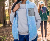 Lilac and Mint | Blue Ridge Sherpa Vest