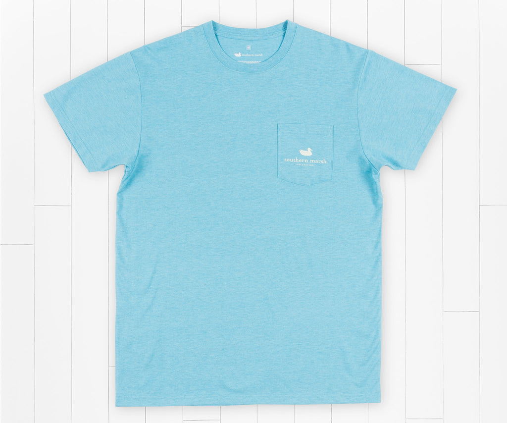 Washed Barbados Blue | Youth Branding Collection Tee | Summit | Youth Short Sleeve T-Shirt