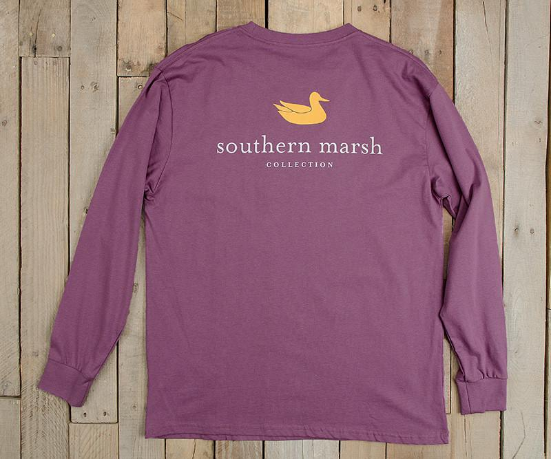 Iris | Authentic Collegiate Tee | Long Sleeve T-Shirt | Cotton Pocket Tee | Southern Duck | LSU Gameday