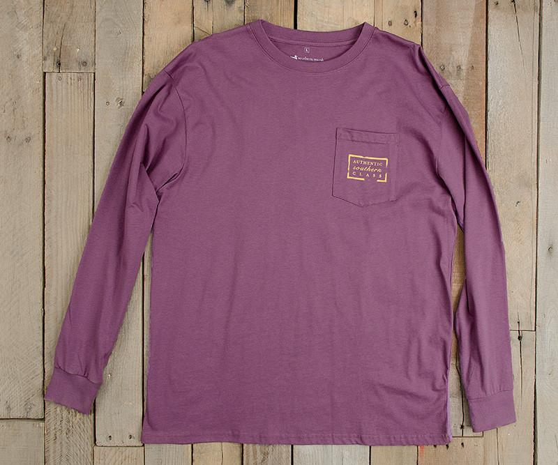 Iris | Authentic Collegiate Tee | Long Sleeve T-Shirt | Cotton Pocket Tee | Southern Duck