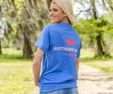 Oxford Blue | Southern Marsh Trademark Duck Tee | Short Sleeve T-Shirt | Front Pocket Shirt | Back
