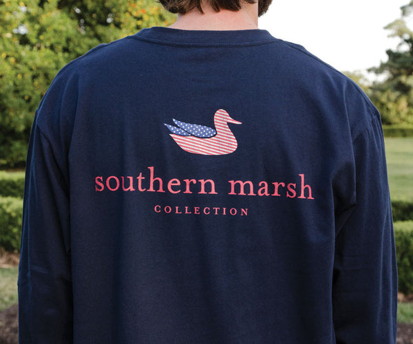 Southern marsh collection authentic flag long sleeve for Southern marsh dress shirts on sale