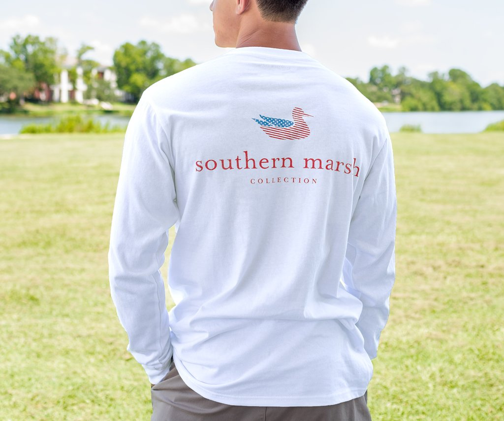 Authentic Flag Tee Long Sleeve Southern Marsh Collection