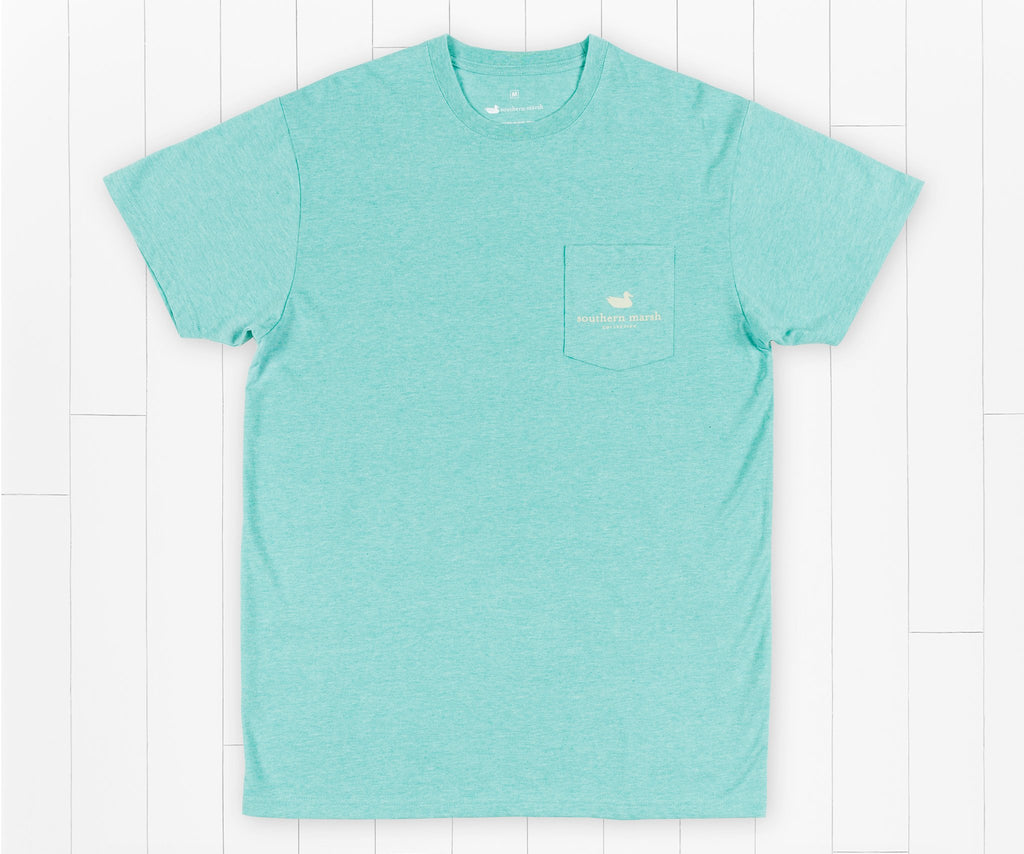 Washed Kelly Green | Genuine Tee | Duck Hunting | Front