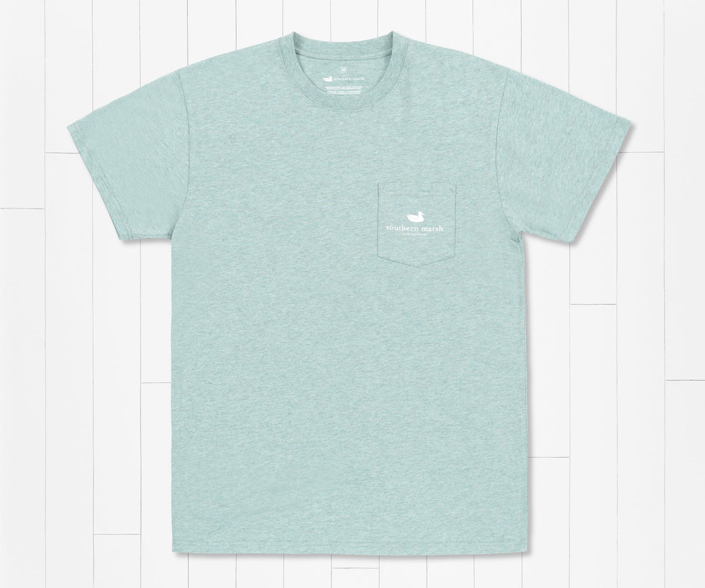 Washed Moss Blue | Impressions Tee | Flounder