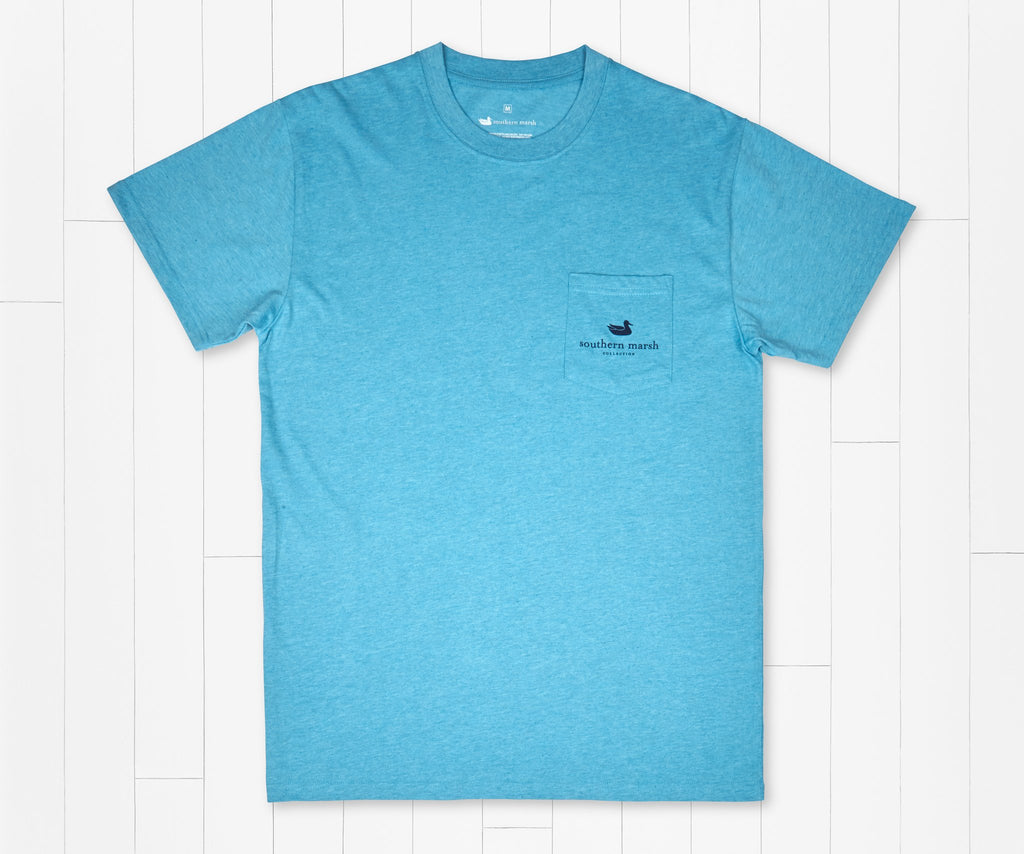 Washed Barbados Blue | Impressions Tee | Oyster