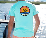 Antigua Blue | Sunset Palm Tee | Lifestyle