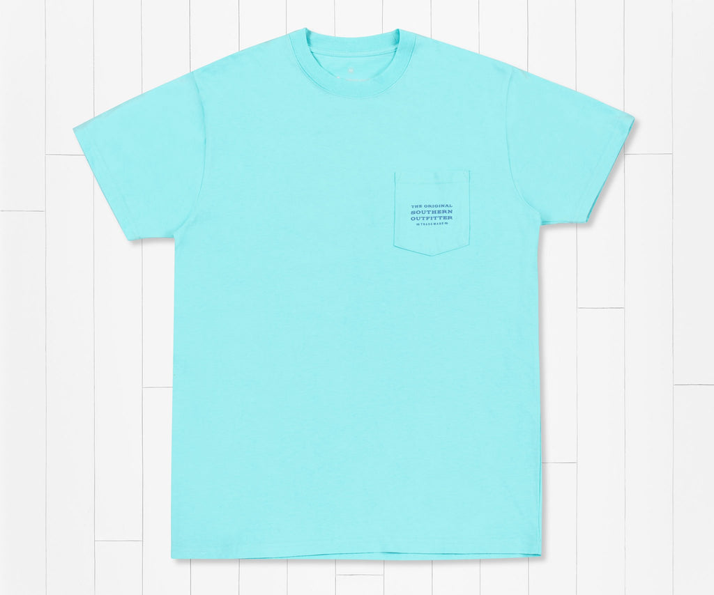 Antigua Blue | Sunset Palm Tee | Front