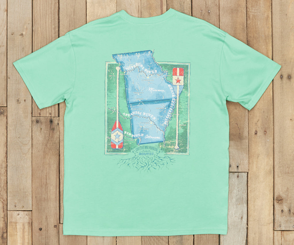 River Route Collection Tee - Arkansas & Missouri