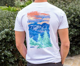 White | Southern Horizons Tee | Blue Ridge | Short Sleeve T-Shirt | Pocket Tee