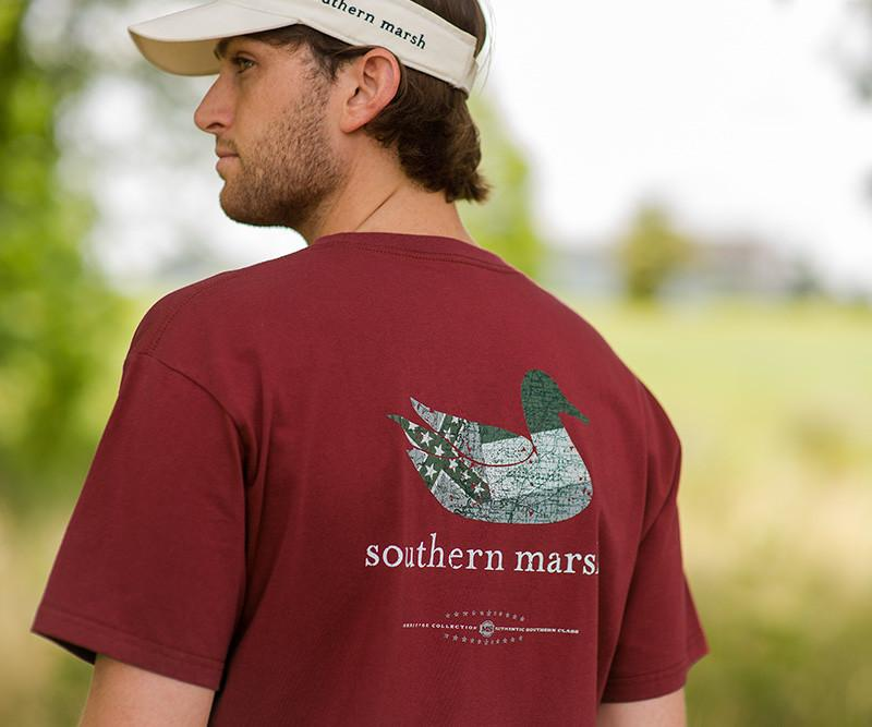 Authentic Heritage Tee Mississippi State Flag Southern Marsh Collection