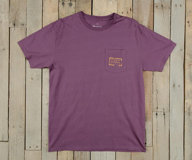 Iris with Yellow | Authentic Collegiate Tee | Short Sleeve T-Shirt | Cotton Pocket Tee | Southern Duck