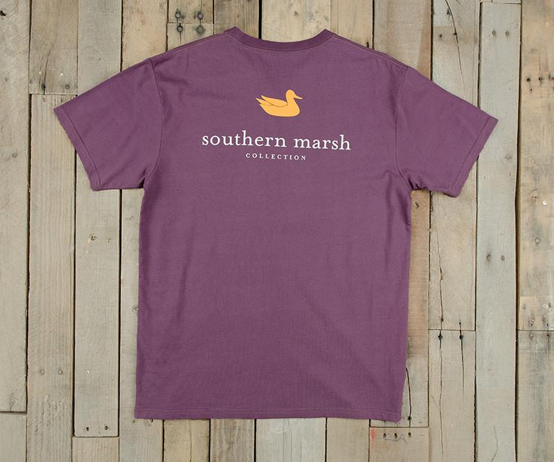 Iris with Yellow | Authentic Collegiate Tee | Short Sleeve T-Shirt | Cotton Pocket Tee | Southern Duck | LSU Gameday