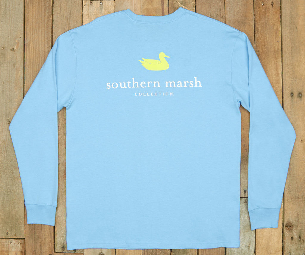 Breaker Blue | Authentic Vibrant Tee | Long Sleeve T-Shirt | Southern Duck Shirt