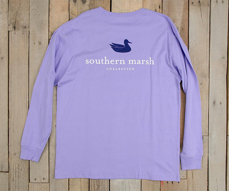 Lilac | Authentic Vibrant Tee | Long Sleeve T-Shirt | Southern Duck Shirt