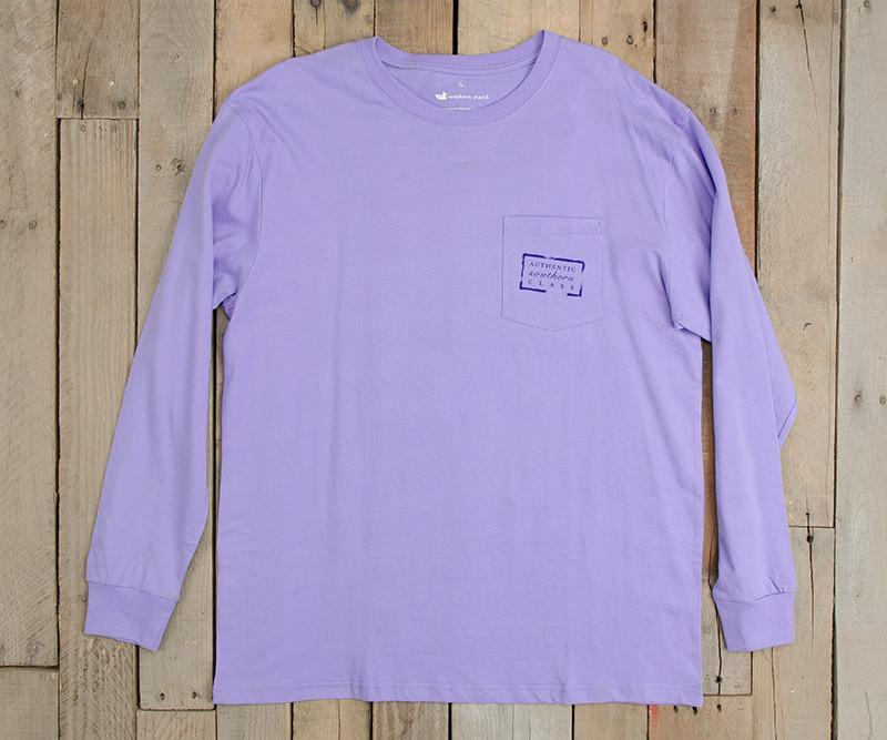 Lilac | Authentic Vibrant Tee | Long Sleeve T-Shirt | Southern Pocket Shirt
