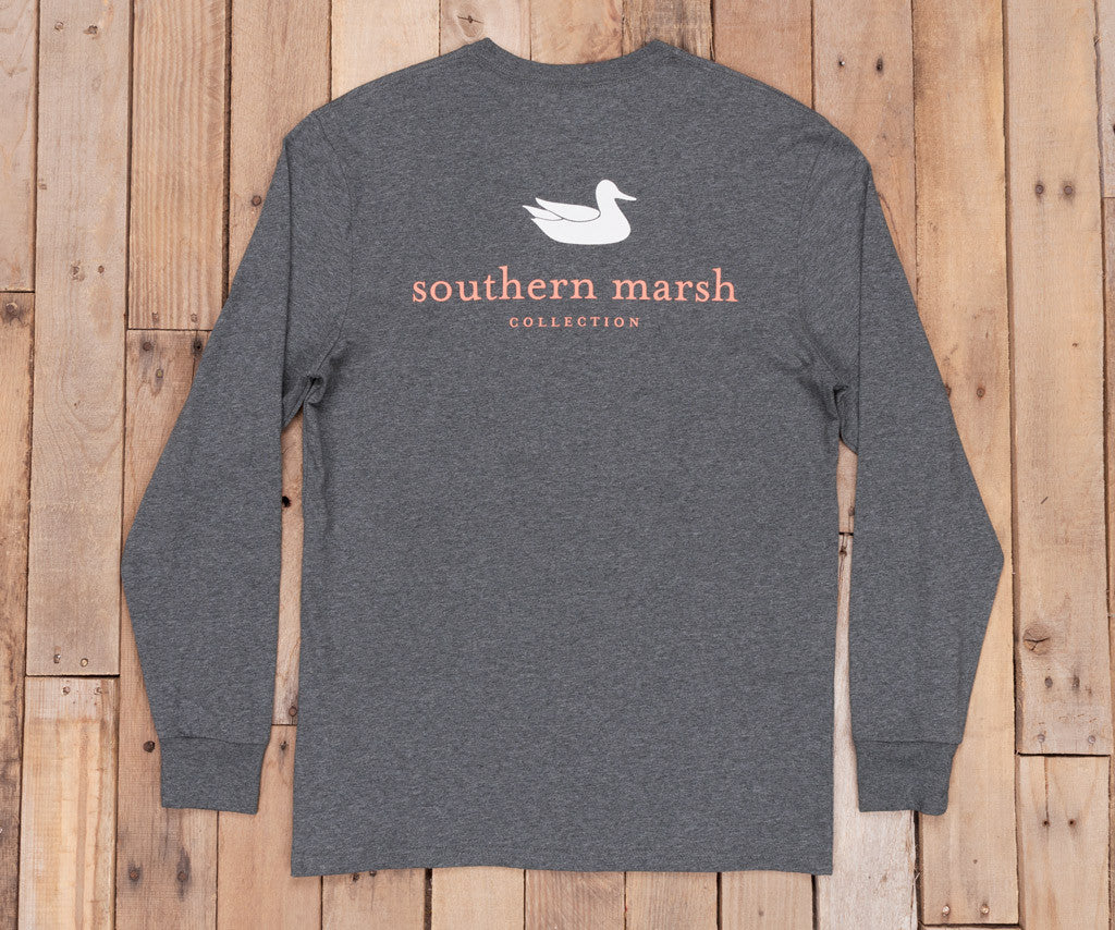 Midnight Gray Heather | Authentic Heathered Tee | Long Sleeve T-Shirt | Southern Duck Shirt