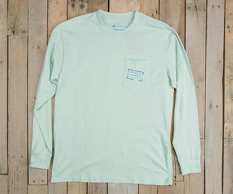 Ocean Green | Authentic Vibrant Tee | Long Sleeve T-Shirt | Southern Pocket Shirt