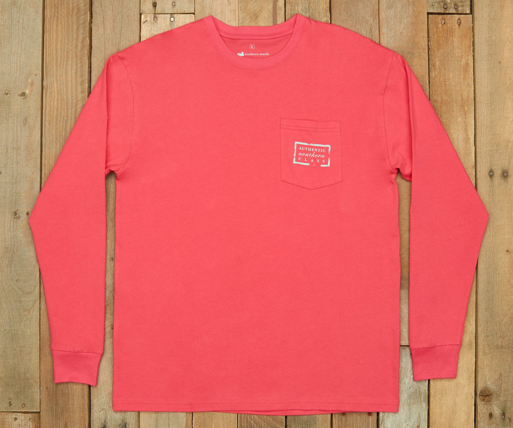 Strawberry Fizz | Authentic Vibrant Tee | Long Sleeve T-Shirt | Southern Pocket Shirt
