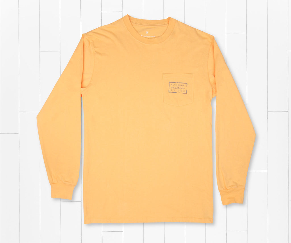 Squash | Authentic Vibrant Tee | Long Sleeve T-Shirt | Southern Pocket Shirt