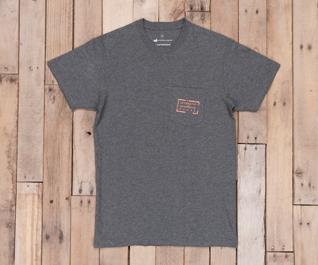 Midnight Gray Heather | Authentic Tee | Short Sleeve T-Shirt | Front