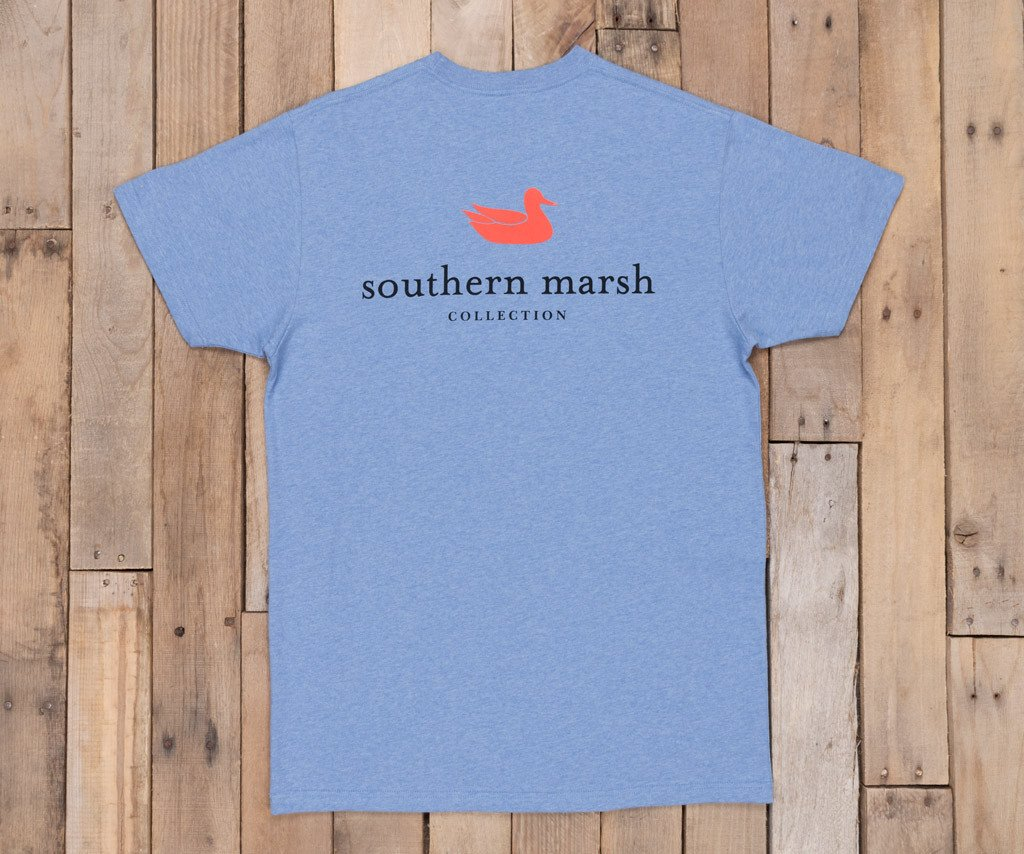 Washed Blue Heather | Authentic Vibrant Tee Heather | Short Sleeve