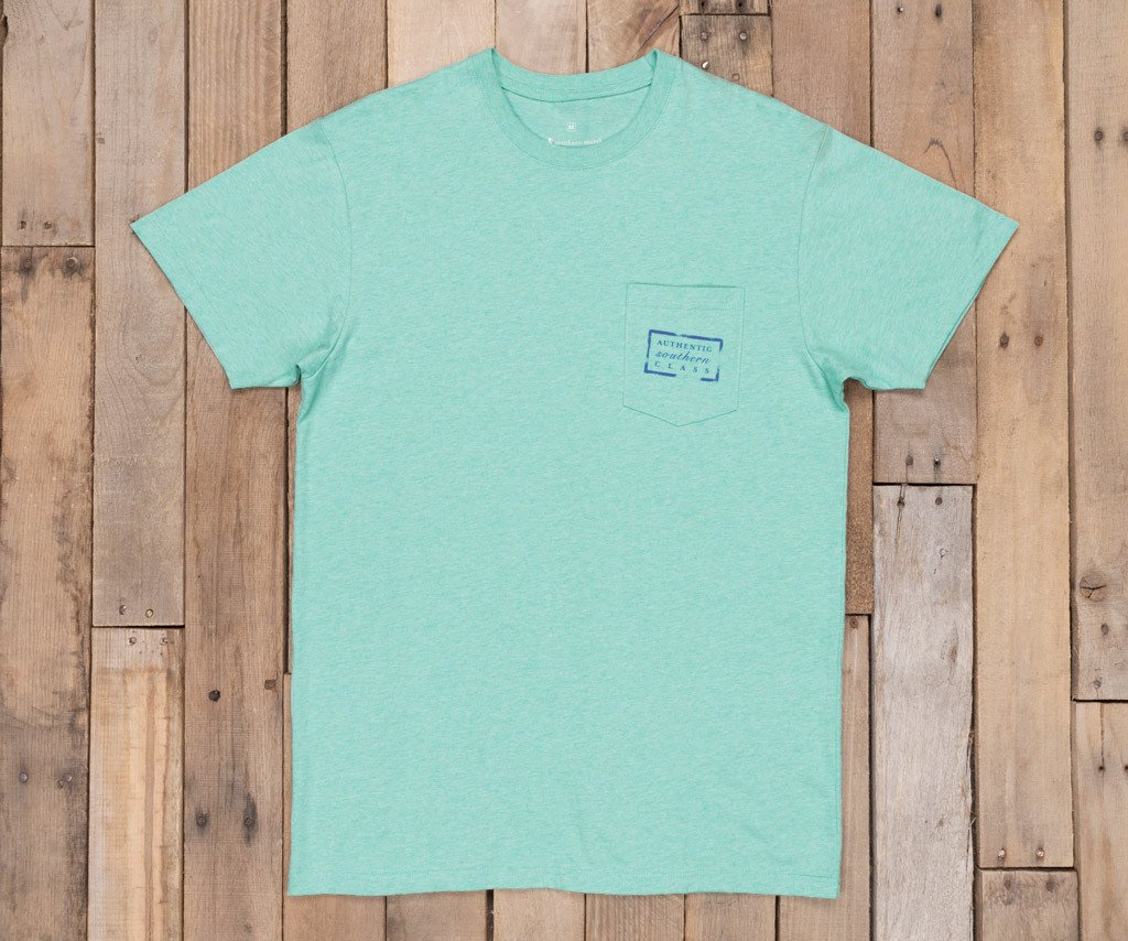 Washed Bimini Green Heather | Authentic Vibrant Tee Heather | Short Sleeve | Front