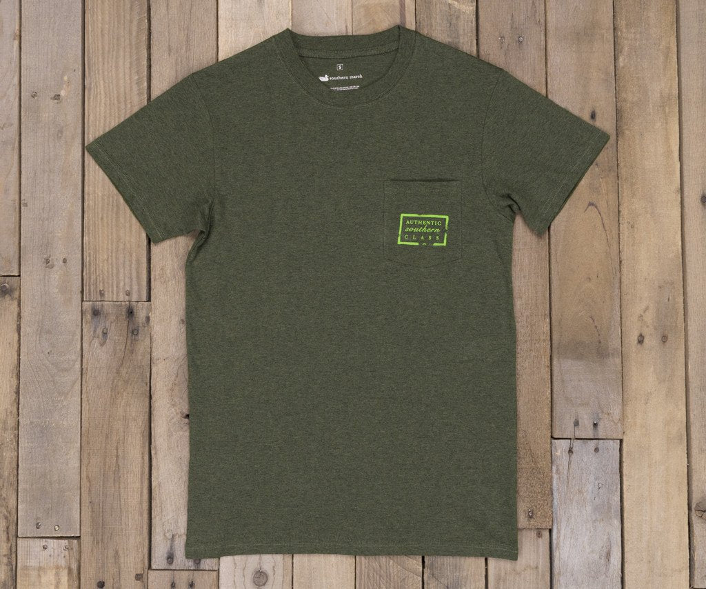 Washed Dark Green Heather | Authentic Tee | Short Sleeve T-Shirt | Front