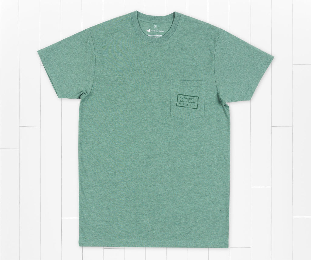 Washed Hunter Green | Authentic Tee | Short Sleeve T-Shirt | Front