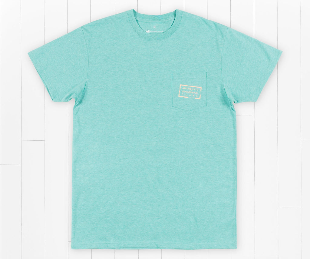 Washed Kelly Green | Authentic Vibrant Tee Heather | Short Sleeve | Front