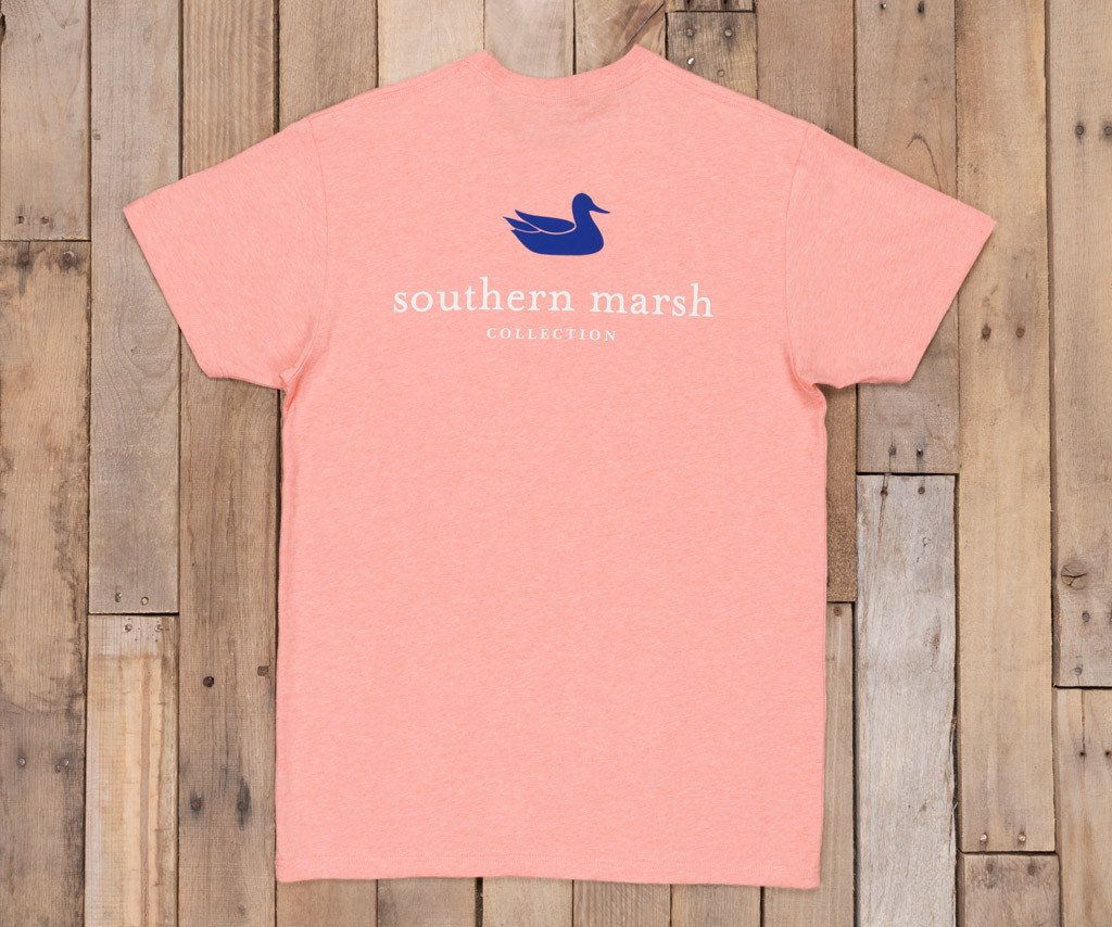 Washed Peach Heather | Authentic Vibrant Tee Heather | Short Sleeve