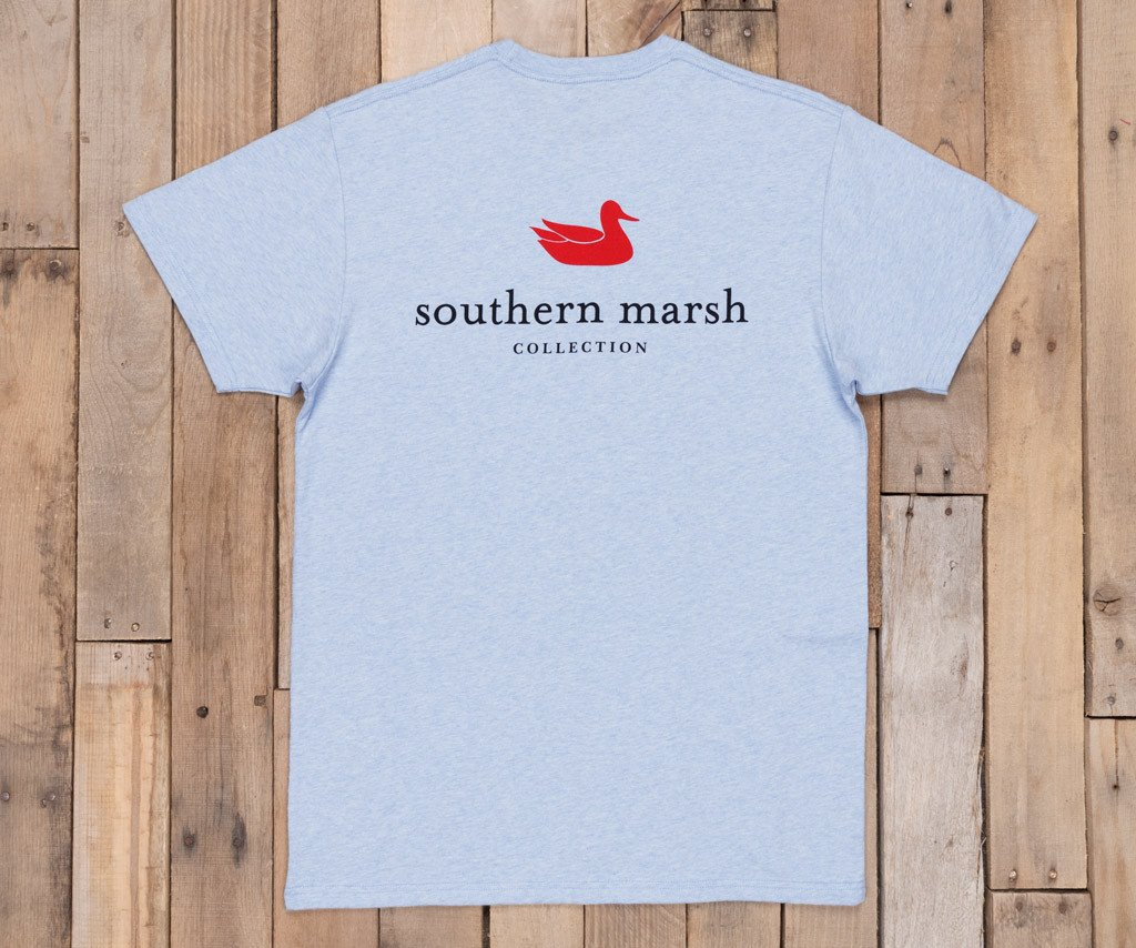 Washed Sky Blue Heather | Authentic Tee | Short Sleeve T-Shirt