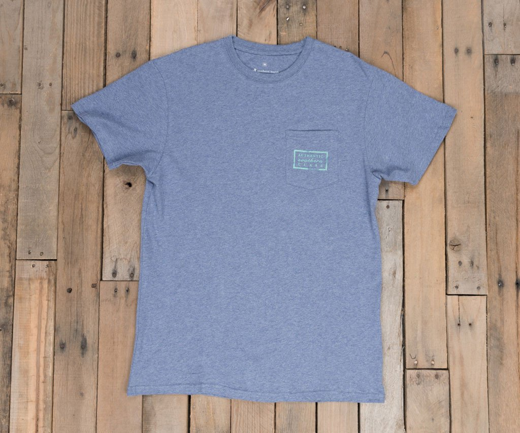 Washed Slate Heather | Authentic Tee | Short Sleeve T-Shirt
