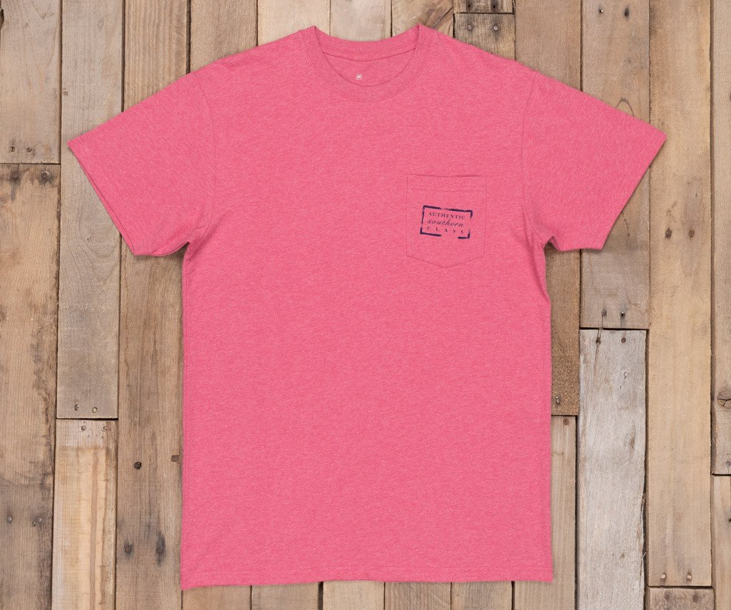 Washed Strawberry Fizz Heather | Authentic Vibrant Tee Heather | Short Sleeve | Front