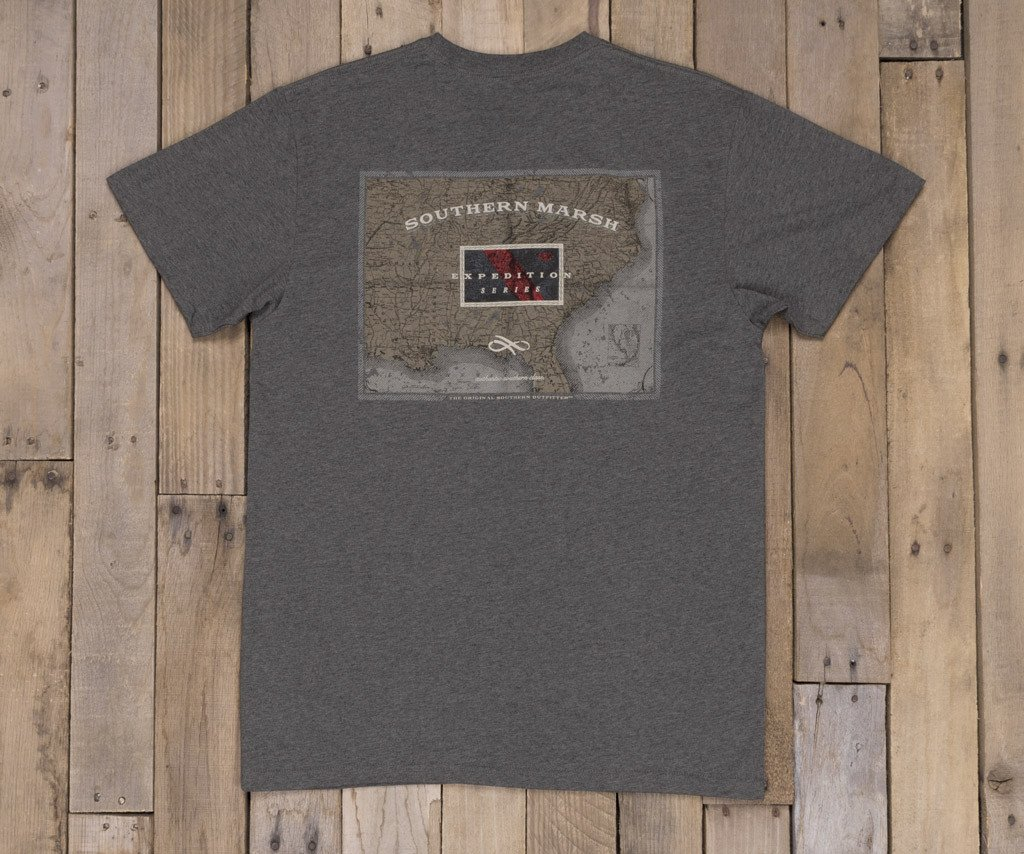Map of the South T-Shirt | Midnight Gray