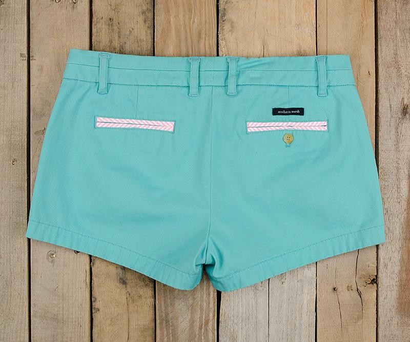 Brighton Short | Chino | Antigua Blue | Back