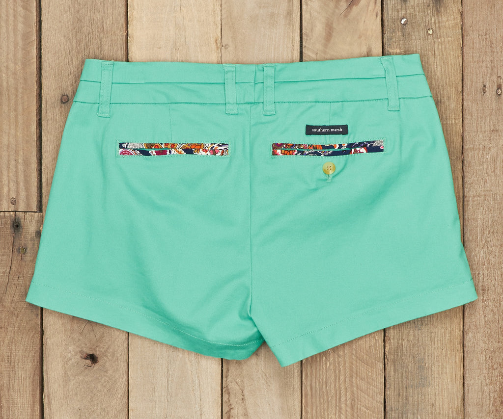 Brighton Short | Paisley | Bimini Green | Back