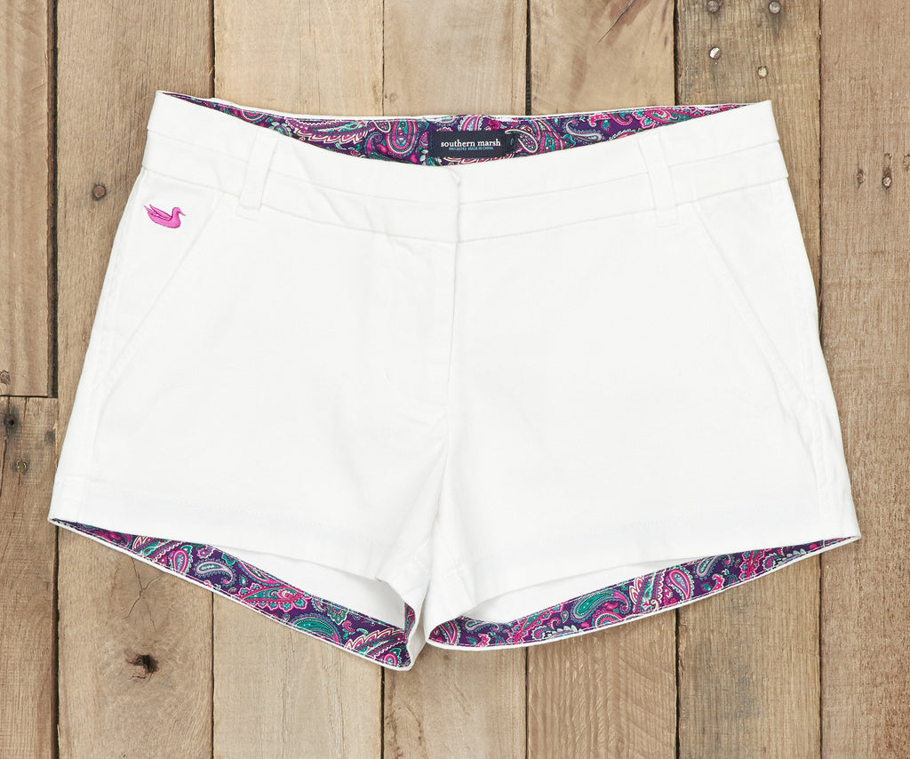 Brighton Short | Paisley | White