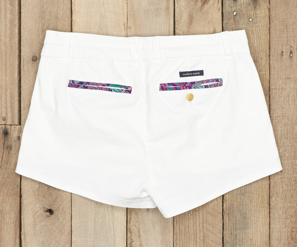 Brighton Short | Paisley | White | Back