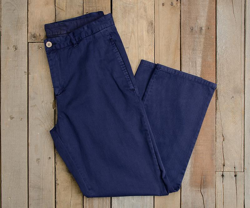 Colonial Navy | SEAWASH™ Grayton Twill Pant | 34in. Inseam Vibrants | Front