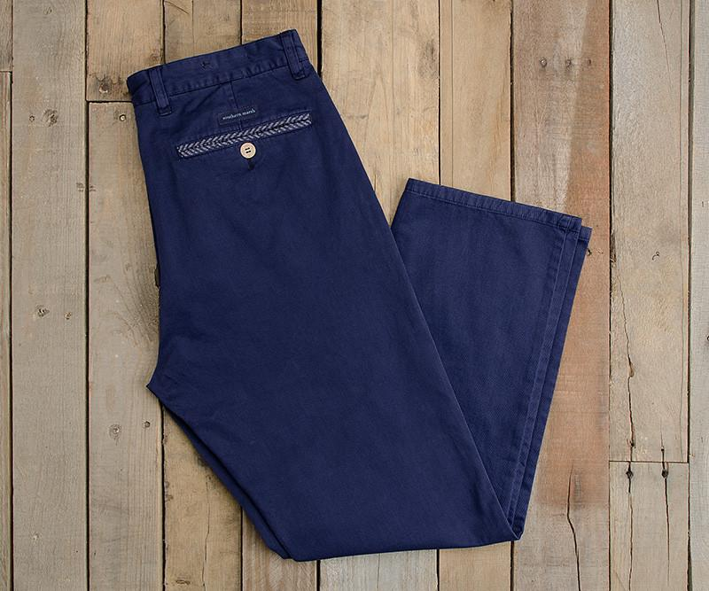 Colonial Navy | SEAWASH™ Grayton Twill Pant | 34in. Inseam Vibrants