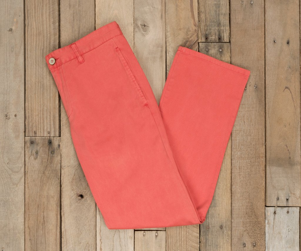 Coral | SEAWASH™ Grayton Twill Pant | 34in. Inseam Vibrants | Front