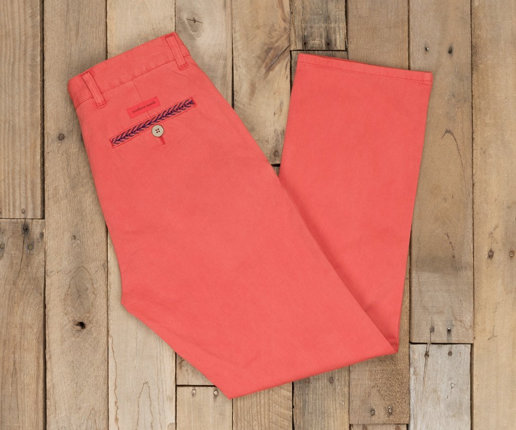 Coral | SEAWASH™ Grayton Twill Pant | 34in. Inseam Vibrants