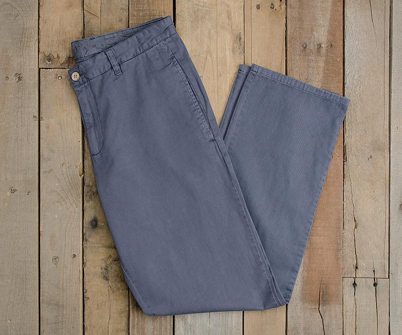 Washed Slate | SEAWASH™ Grayton Twill Pant | 34in. Inseam | Front