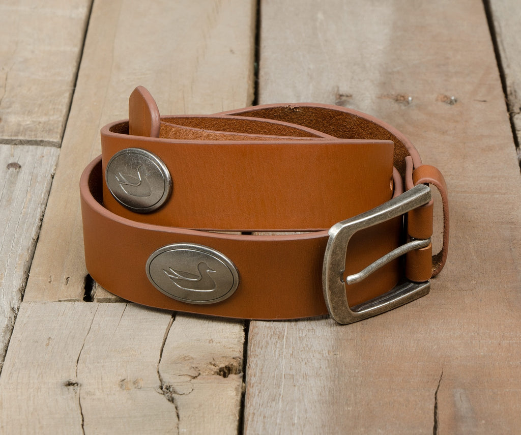 Walnut with Pewter | Heritage Medallion Leather Belt