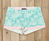Antigua Blue Reef | Brighton Short | Reef | Womens Shorts | Front | Cuffed