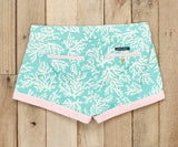 Antigua Blue Reef | Brighton Short | Reef | Womens Shorts | Back