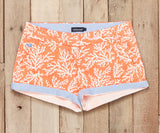 Coral Reef | Brighton Short | Reef | Womens Shorts | Front | Cuffed