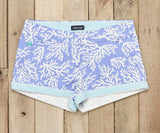 preppy patterned womens shorts